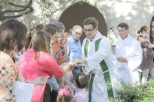 Outdoor Eucharist at St. Paul's in Waco, TX