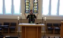 Presiding over the Holy Eucharist at the Episcopal Student Center at Baylor University